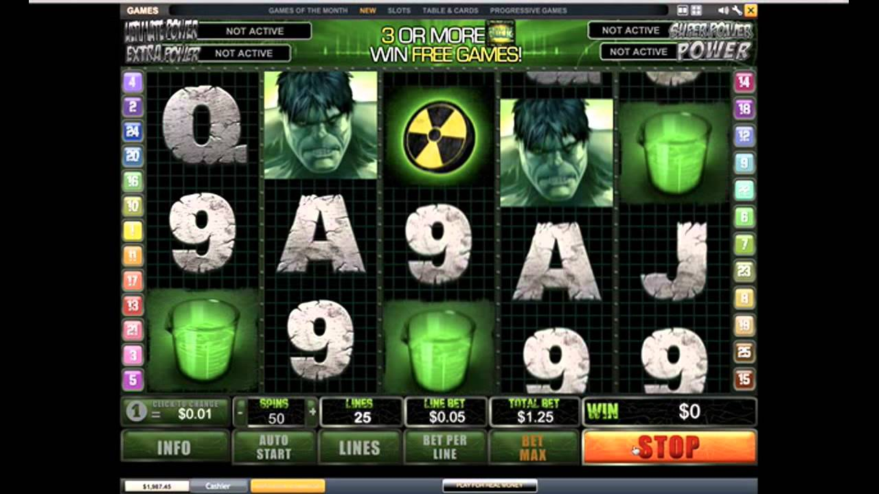 Hulk Slot Game