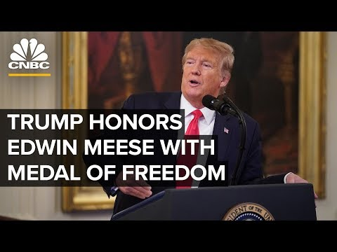 President Trump presents Medal of Freedom to Edwin Meese III – 10/8/2019