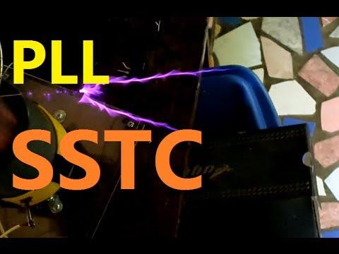 PLL SSTC Half Bridge Tesla Coil - YouTube
