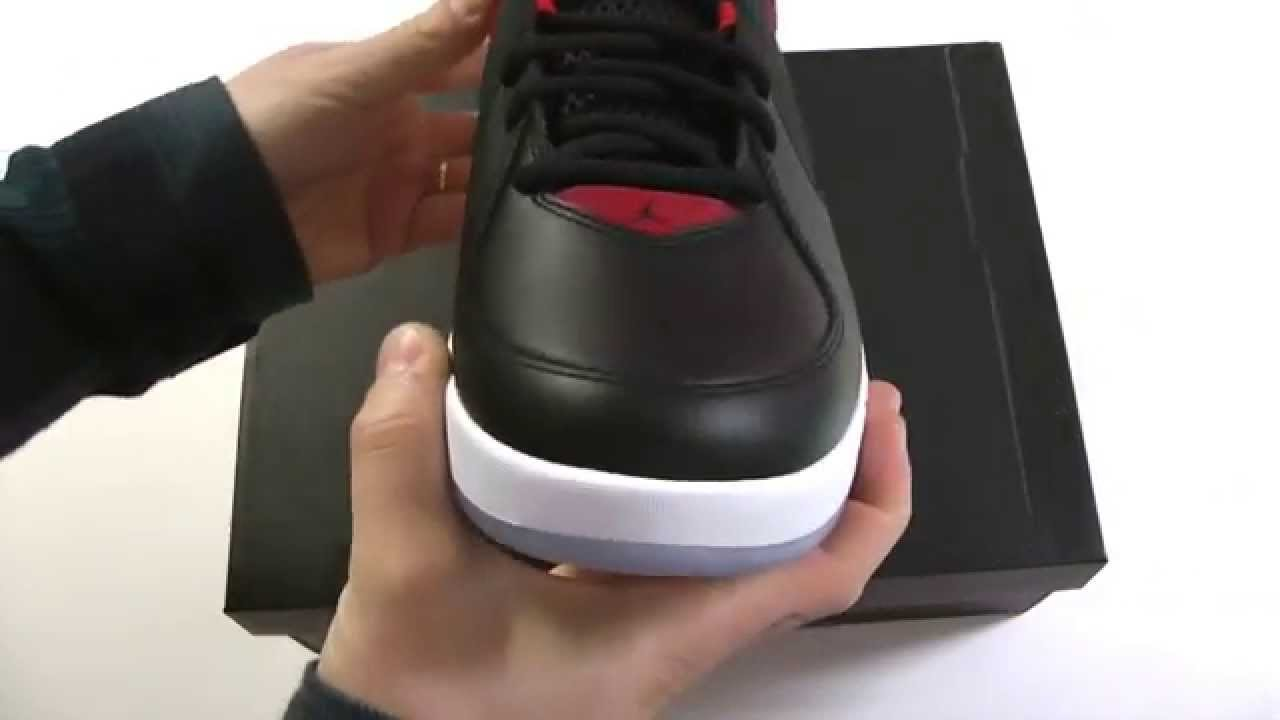 03d3528a187 MOVESHOP JORDAN AIR INCLINE 705796 001 BLACK WHITE GYM RED - YouTube