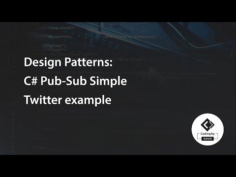 Design Patterns: C# Pub-Sub Simple Twitter Example