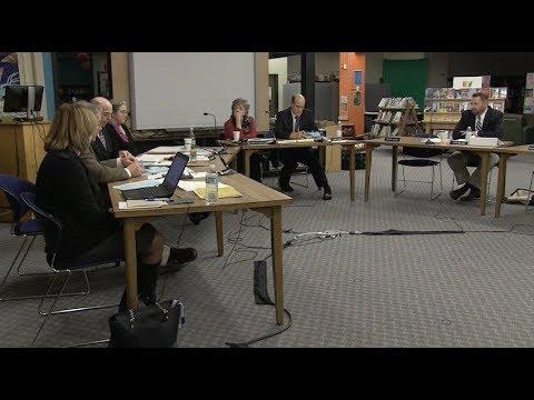 South Burlington School Board Meeting: November 15, 2017