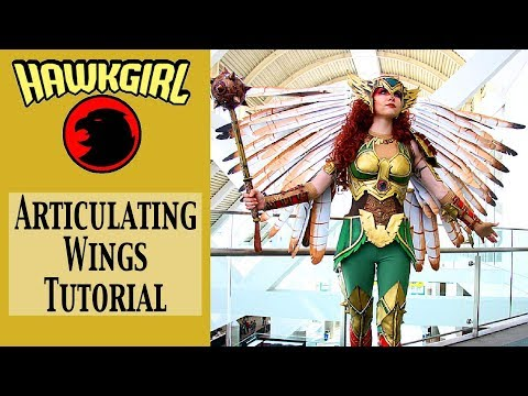 Hawkgirl Cosplay Tutorial - Articulating Wings