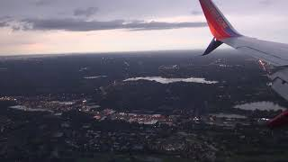 Southwest Airlines Boeing 737 MAX 8 landing in Tampa Bay, Flordia