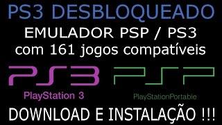 EMULADOR de PSP com 161 JOGOS COMPATÍVEIS com o PS3 DESBLOQUEADO. DOWNLOAD e INSTALAÇÃO.