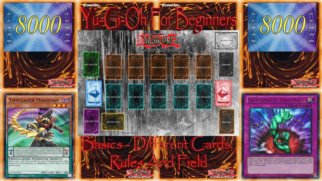 How To Play Yu Gi Oh Trading Card Game 1 Different Types Of Cards Rules And Field Layout