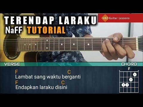 Naff - Terendap Laraku TUTORIAL GITAR | Chord + Lyrics & Strumming