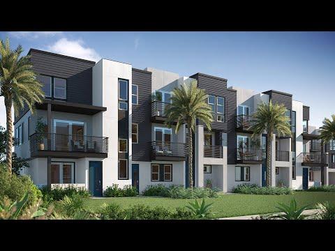 MDL Modern Living New Construction Townhouses Irvine California Plan C1