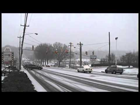 Statesville NC Snow Time Lapse with Numerous Accidents