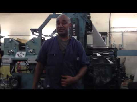 Explanation of the Printing Presses, Fiji Times, Suva, Fiji - Part 1