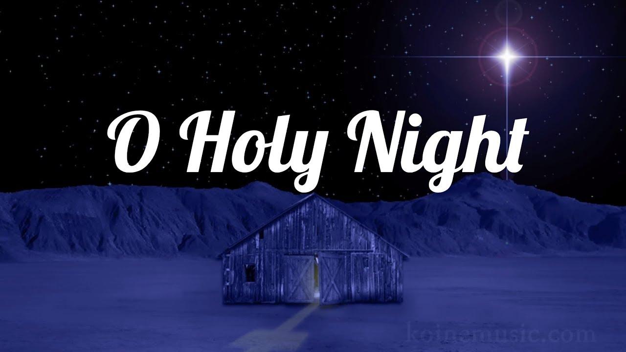 O Holy Night - Christmas Song with Lyrics - YouTube