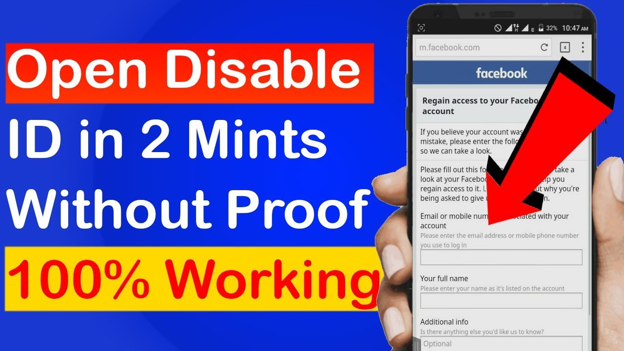 [Part 2] How To Recover Disabled Facebook Account Without Proof Government  Id Card