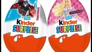 Kinder Surprise Eggs 2015 Unboxing - #KinderCollection 2 - Cartoon Games