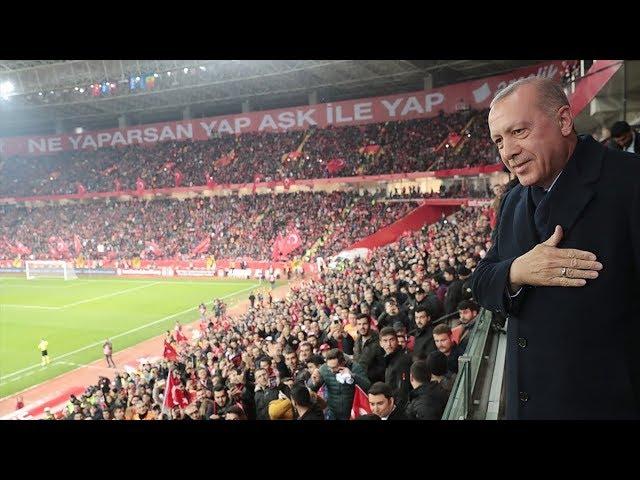 Cumhurbaşkanı Erdoğan, Türkiye Moldova maçını izledi