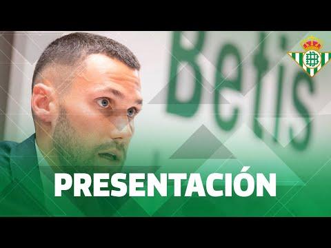 Presentación de Alfonso Pedraza como futbolista del Real BETIS Balompié