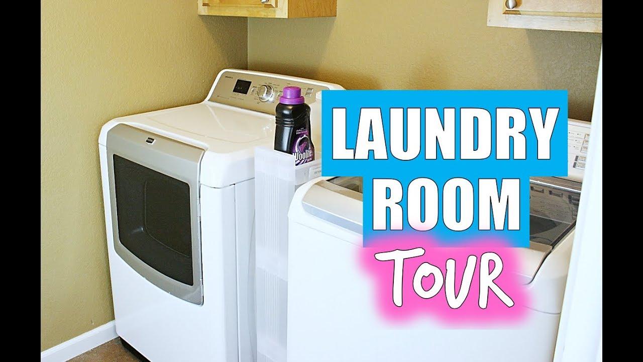 Laundry Room Tour How I Organize My Laundry Room