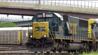 CSX Trains at M&T Bank Stadium in Baltimore, MD