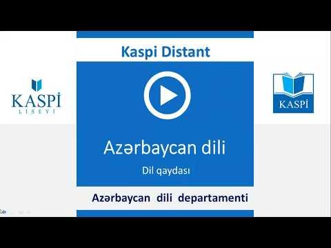 11-ci sinif buraxılış imtahanı (10.06.2020) - Azərbaycan dili - Dil qaydaları