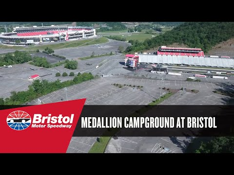 Medallion campground at bristol motor speedway youtube for Camping bristol motor speedway