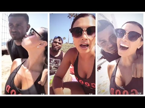Joy Taylor gets destroyed at beach volleyball by her boyfriend Earl Watson