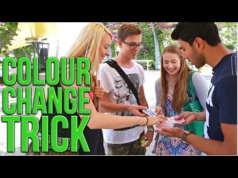 Free Magic Tricks: Easy Card Trick: Colour Change Trick!