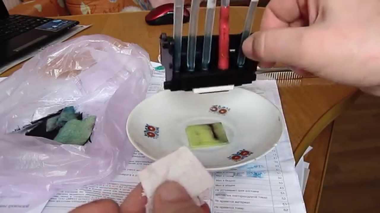 Промывка печатающей головки  CanonIP4840, IP4940, MG5240, QY6-0080