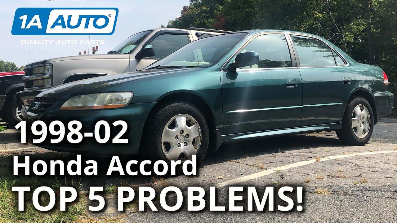 Top 5 Problems Honda Accord Sedan 6th Generation 1998 2002 Youtube