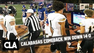 CALABASAS INSANE COMEBACK WIN!! Calabasas vs Westlake Official Game Highlights @SportsRecruits Mix