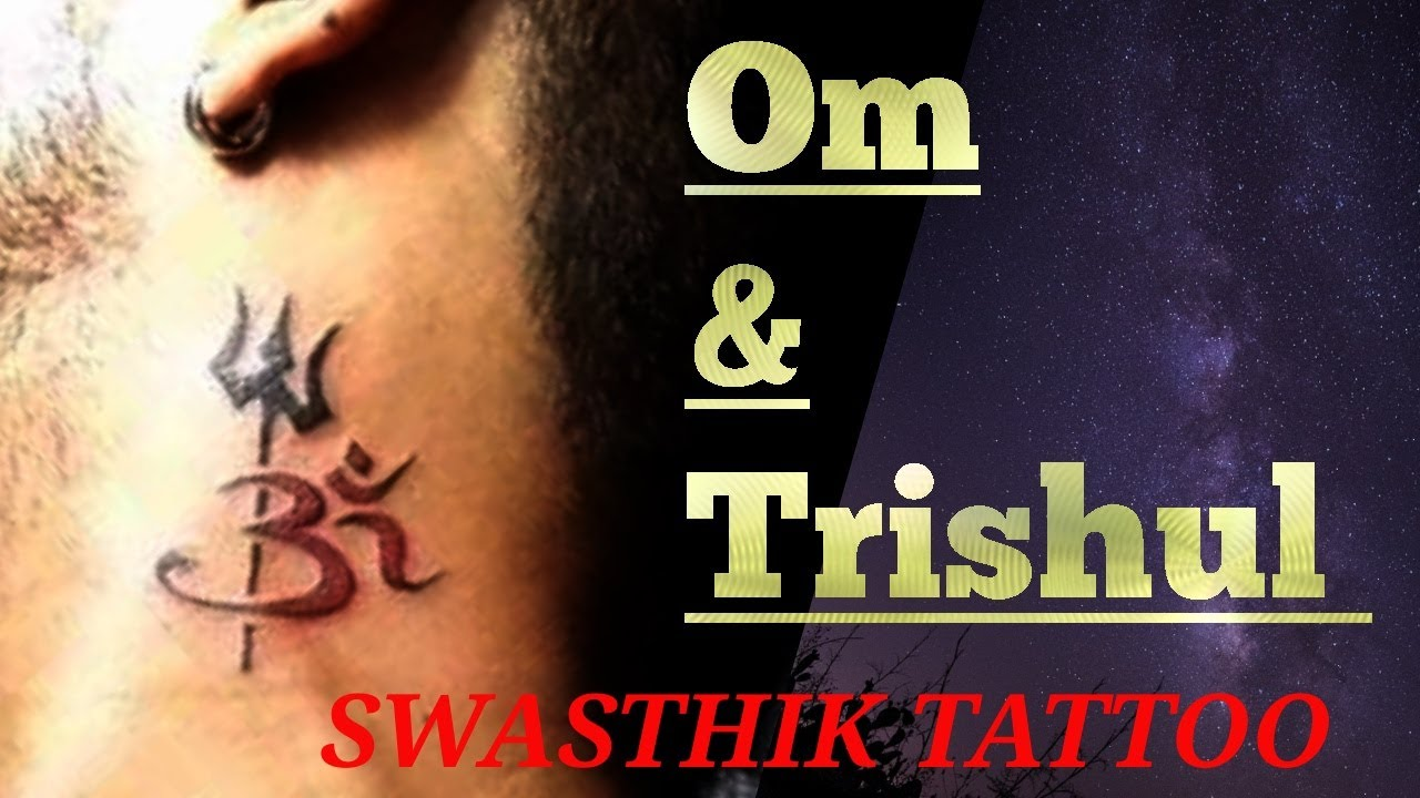 1ddee0cd2e213 Trishul tattoo on neck by SWASTHIK TATTOO - YouTube