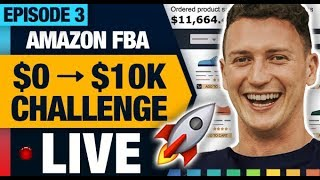 AMAZON FBA $10K CHALLENGE 🚀SOURCING A PRODUCT WITH 50% PROFIT MARGIN! (EPISODE 03)