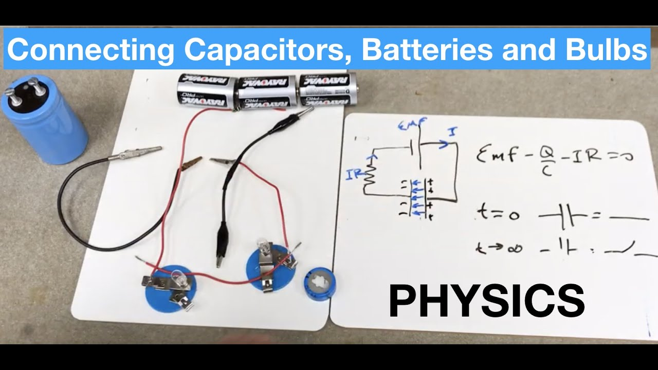 Can you connect a capacitor to a light bulb? Physics Wiring A Light Bulb on