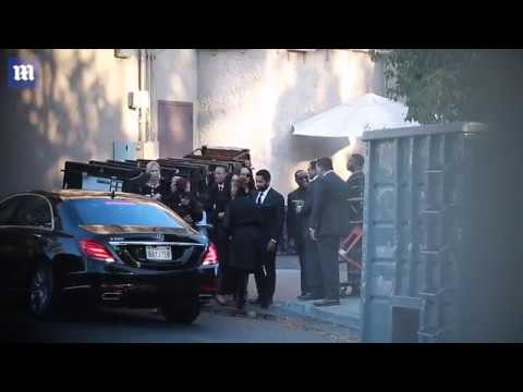 Janet Jackson, her son Eissa, & other Jackson Family members at Funeral Luncheon for Joseph Jackson