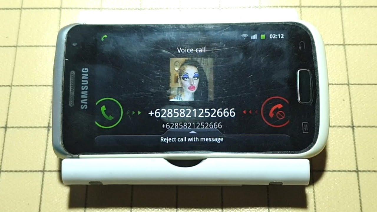 Samsung W incoming calls landscape screen
