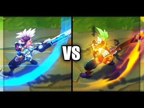 Pulsefire Ekko vs Trick or Treat Ekko Epic Skins Comparison (League of Legends)