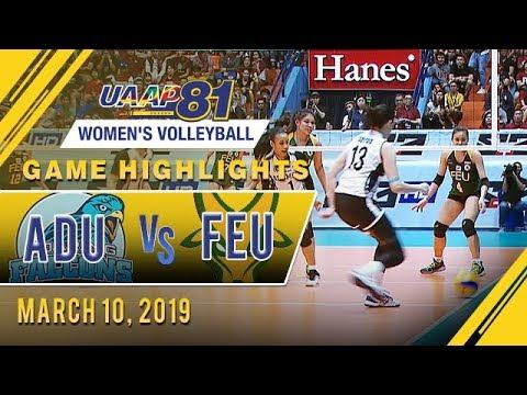 UAAP 81 WV: AdU vs. FEU | Game Highlights | March 10, 2019