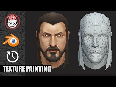 Head Texture Painting In Blender[time-lapse]