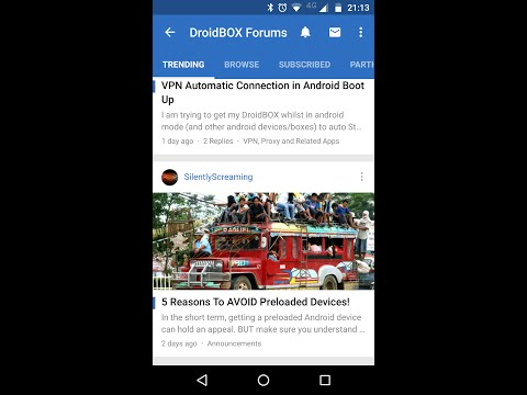 DroidBOX Forum app for Android - How to install and a tour of the features