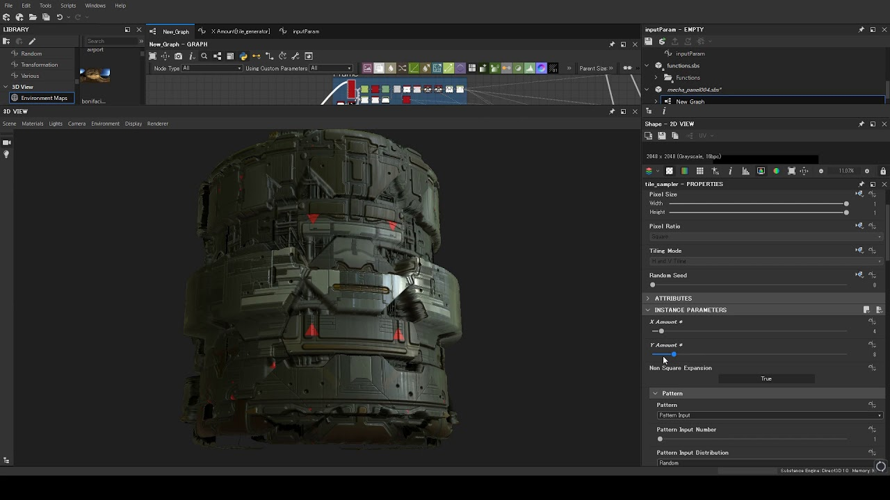 ArtStation - [WIP]SubstanceDesigner Hard Surface Panel