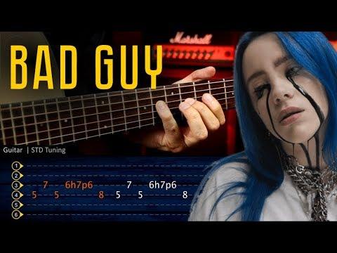 Bad Guy - Billie Eilish Guitar TABS Tutorial | Cover Guitarra Christianvib