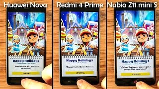 Huawei Nova vs Redmi 4 Prime vs Nubia Z11 Mini S - Speed Test&Benchmarks