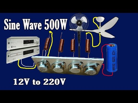 How to make Sine Wave Inverter 12V to 220V 500W (Part 3)