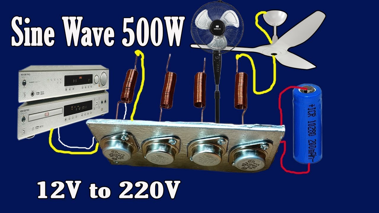 how to make transformer 12v 220v