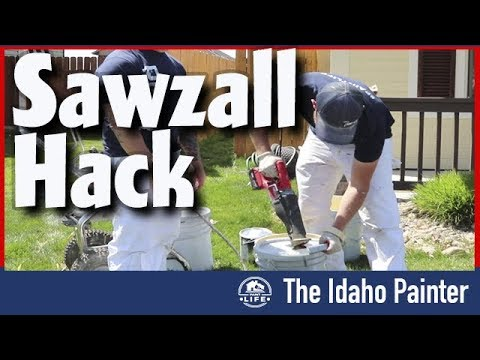 Milwaukee Sawzall solves painting problem