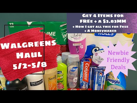 WALGREENS HAUL 5/2-5/8   GET 4 ITEMS FOR FREE + A MM & HOW I GOT ALL THIS FOR FREE