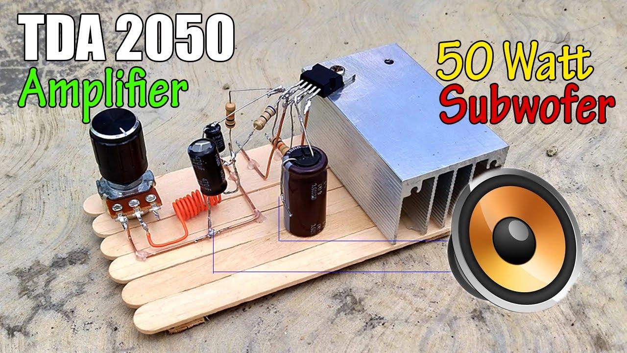 TDA2050 Amplifier Circuit Diagram    DIY Powerful Bass ...