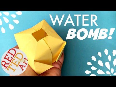 Easy Origami Water Bomb DIY (aka Paper Balloon) - Fun Origami for Summer
