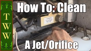 cleaning the jet orifice on an rv refrigerator