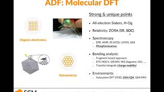 Materials Modeling with ADF: OLEDs, nanoparticles, batteries