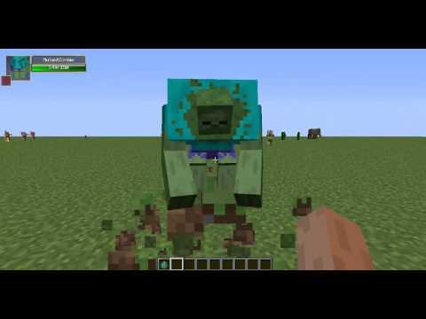 Minecraft:Обзор Мода (Зомби-Халк) Мутант№1