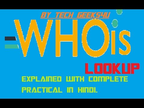 What is Whois Lookup?EXPLAINED WITH PRACTICAL|EXPLAINED COMPLETELY IN HINDI!TECH GEEKS4U